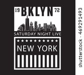 brooklyn nyc typography  t... | Shutterstock .eps vector #469291493