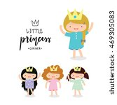 princess logo template  kid... | Shutterstock .eps vector #469305083