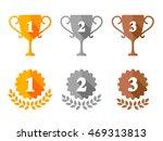golden  silver and bronze... | Shutterstock .eps vector #469313813