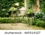 bicycle with flowers at... | Shutterstock . vector #469314107
