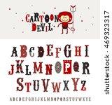 cartoon devil   retro style... | Shutterstock .eps vector #469323317