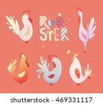 set roosters for children. the... | Shutterstock .eps vector #469331117
