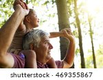 grandfather giving... | Shutterstock . vector #469355867