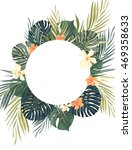 bright hawaiian design with... | Shutterstock . vector #469358633