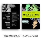 cover template with abstract... | Shutterstock .eps vector #469367933