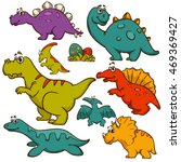 dinosaur collection set.... | Shutterstock .eps vector #469369427