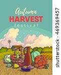 autumn harvesting. vector...   Shutterstock .eps vector #469369457
