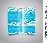 vector two fold brochure design ... | Shutterstock .eps vector #469389857