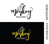 monkey kids zone logo  kids... | Shutterstock .eps vector #469394843