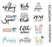 hand draw logo set. logo... | Shutterstock .eps vector #469399733