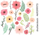 vector collection with pink ... | Shutterstock .eps vector #469399973