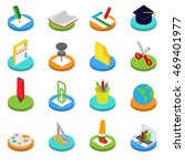 education isometric icon set.... | Shutterstock . vector #469401977