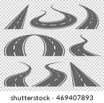 winding curved road or highway... | Shutterstock .eps vector #469407893