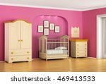 children's room in red and pink