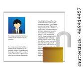 application unlock | Shutterstock . vector #469414457