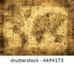 ancient map of the world | Shutterstock . vector #4694173