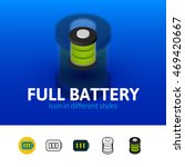 full battery color icon  vector ...