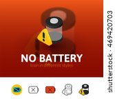 no battery color icon  vector...