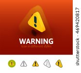 warning color icon  vector...