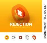 rejection color icon  vector...