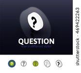 question color icon  vector...