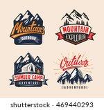 vector adventure vintage logo... | Shutterstock .eps vector #469440293