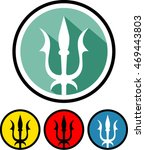 trident icon. trident symbol on ... | Shutterstock .eps vector #469443803