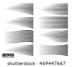 speed lines set. motion effects ... | Shutterstock .eps vector #469447667