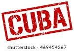 Постер, плакат: Cuba stamp red square