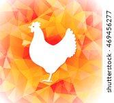 bright polygon illustration of... | Shutterstock .eps vector #469456277