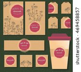 full branding of tea goods  ... | Shutterstock .eps vector #469458857