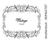 elegant luxury vintage... | Shutterstock . vector #469461707
