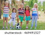 kids in park | Shutterstock . vector #469491527