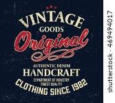 typography vintage denim brand... | Shutterstock .eps vector #469494017