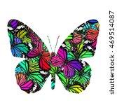 beautiful fancy butterfly in... | Shutterstock . vector #469514087