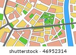 city map of the unknown city | Shutterstock . vector #46952314