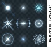 lights lens flare vector set.... | Shutterstock .eps vector #469525217