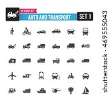 set of auto and transport icon... | Shutterstock .eps vector #469555043