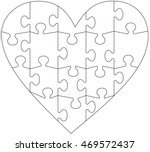 Heart Jigsaw Puzzle Template