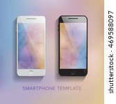 set of mobile phones blurred... | Shutterstock .eps vector #469588097