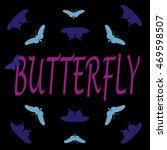 t shirt butterfly on black... | Shutterstock .eps vector #469598507