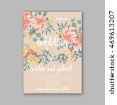 wedding invitation or card with ... | Shutterstock .eps vector #469613207