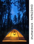 camping tent in the forest... | Shutterstock . vector #469623443