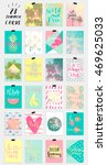 23 summer hand drawn... | Shutterstock .eps vector #469625033