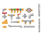 details water pipes different... | Shutterstock .eps vector #469637357