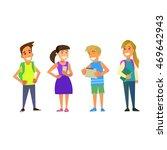 students elementary school.... | Shutterstock .eps vector #469642943