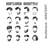 set of shiny gentle men hair... | Shutterstock .eps vector #469673597