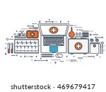 line art.medical flat... | Shutterstock . vector #469679417