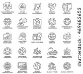 icons set global business ... | Shutterstock .eps vector #469683653