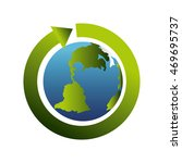 planet arrow cycle ecology... | Shutterstock .eps vector #469695737